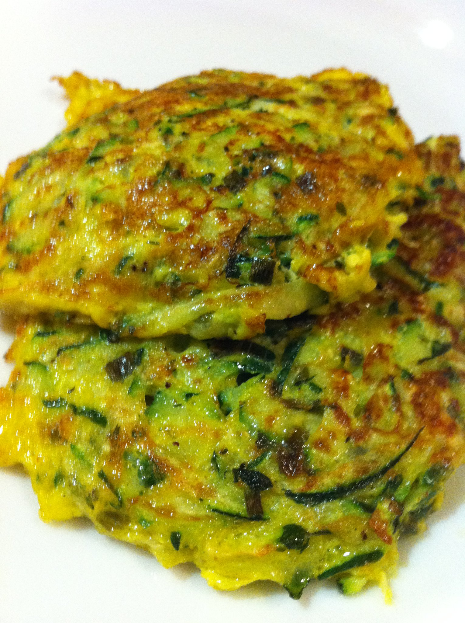 Zucchini Green Garlic Latkes Recipe — Dishmaps